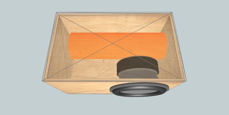 15 дюймов короб для сабвуфера Machete mf15d2 труба