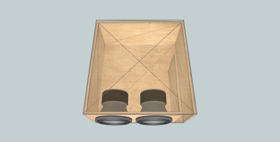 8 дюймов короб для сабвуфера Skar EVL-8D4