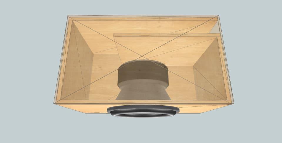 Alpine SWR-1542D - subwoofer box