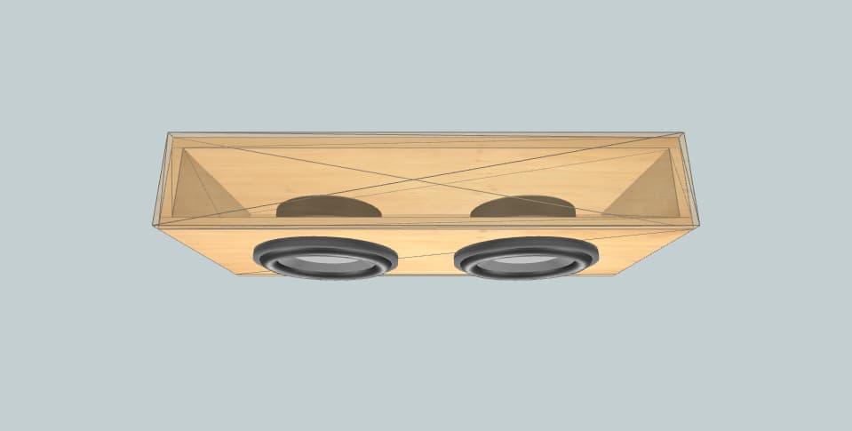 10 inch subwoofer box JL Audio Dual 10-TW3
