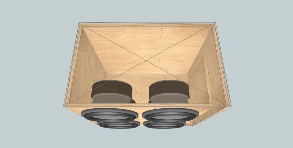 12 дюймов короб для сабвуфера JBL GT5-12 ( 4x )