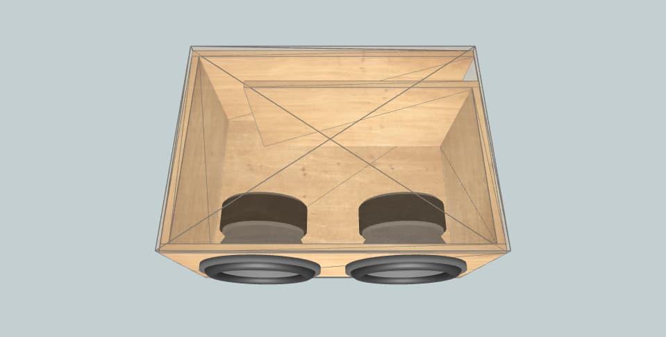 12 дюймов короб для сабвуфера Skar SVR-12-D2