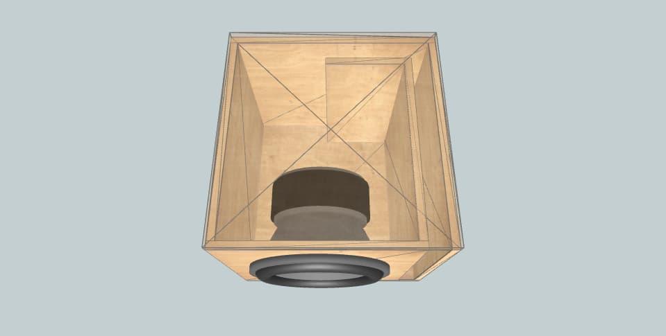 12 inch subwoofer box Skar evans single evl 12 32 hz