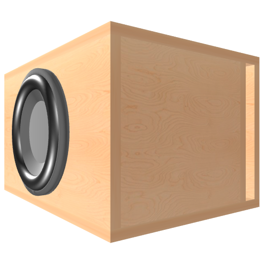 10 inch Subwoofer Box | Ported | Slot on the Right Panel