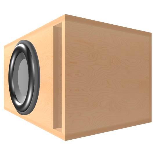 12 inch Subwoofer Box | Ported | Slot on the Front Panel