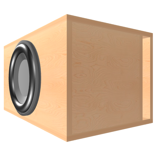 12 inch Subwoofer Box | Ported | Slot on the Right Panel