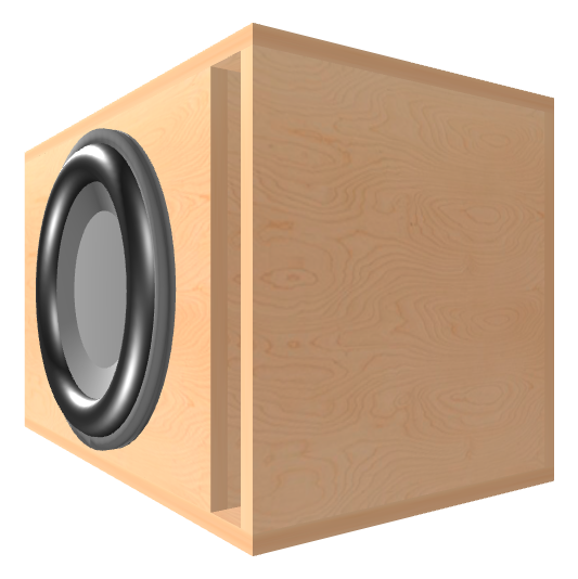 15 inch Subwoofer Box | Ported | Slot on the Front Panel