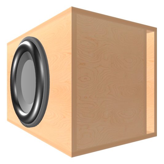 15 inch Subwoofer Box | Ported | Slot on the Right Panel