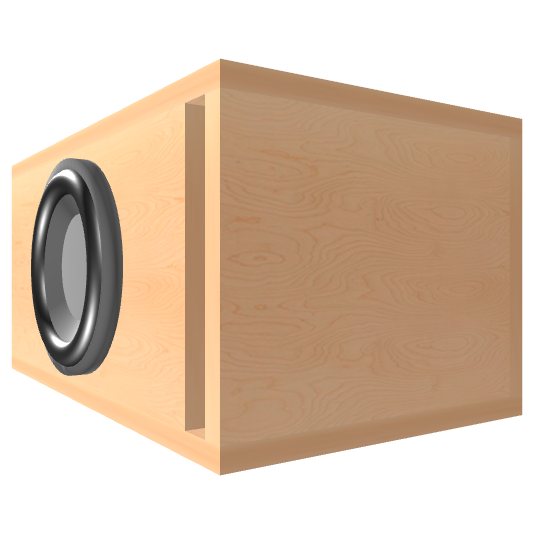 8 inch Subwoofer Box | Ported | Slot on the Front Panel