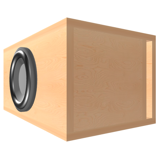8 inch Subwoofer Box | Ported | Slot on the Right Panel